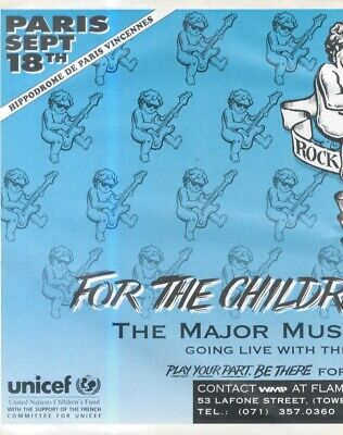 (hfbk7) Poster/advert 13x11  Unicef For The Children Of Europe : Rock Your Soul • 26.99£