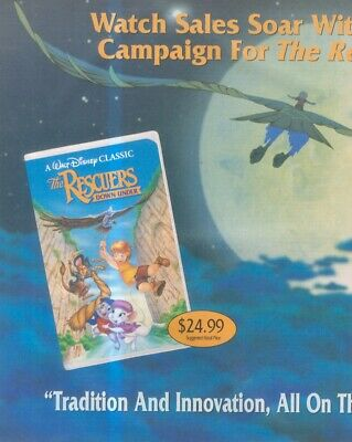 (sfbk60) Poster/advert 26x11  The Rescuers - Down Under • 26.99£