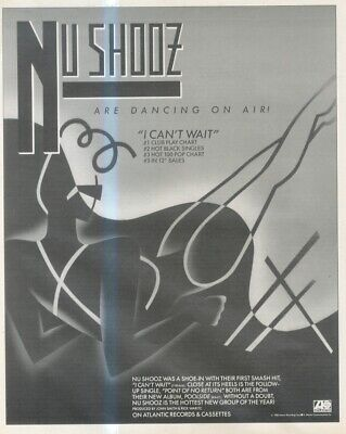 (sfbk6) Poster/advert 13x11  Nu Shooz : I Can't Wait Single • 24.99£