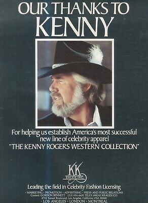 (sfbk5) Poster/advert 14x11  Kenny Rogers (thanks) • 16.99£
