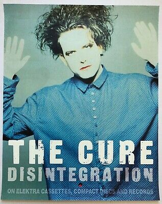 THE CURE Disintegration 1989 Elektra Records PROMO Only POSTER Robert Smith VG+ • 37.52£