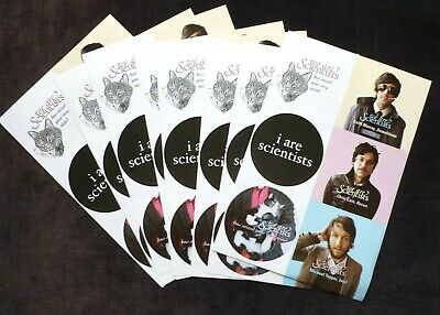 WE ARE SCIENTISTS 8 Sheets Of Promotional Stickers Has Seized Your Very Mind • 9.99£