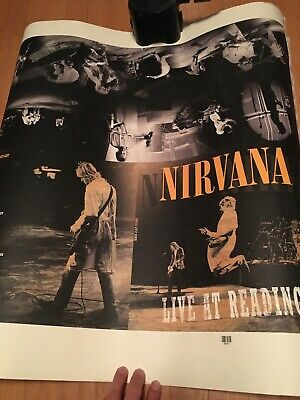 Nirvana Rare Printers Proof Sheet Poster Live At Reading England August 30 1992  • 45.01£