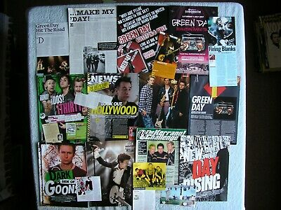 Green Day - Magazine Cuttings Collection - Articles, Photos, Clippings X18. • 2.74£