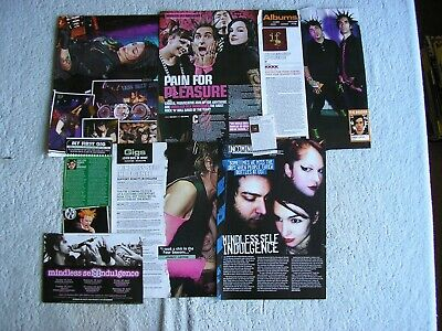 Mindless Self Indulgence - Magazine Cuttings Collection - Clippings, Articles X8 • 2.54£