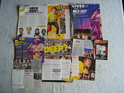 Neck Deep - Magazine Cuttings Collection - Clippings, Photos, Articles X9. • 2.54£