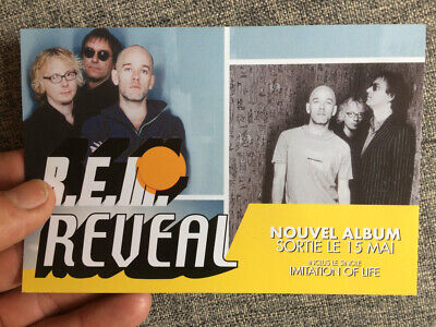 R.E.M - Reveal. Rare French Postcard Flyer Promo. 2001 Memorabilia • 6.79£