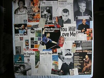 Robbie Williams - Magazine Cuttings Collection - Clippings, Articles, Photos X17 • 2.94£