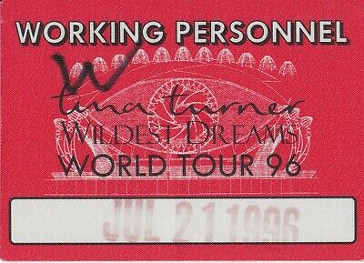 CONCERT TICKET - Tina Turner @ Wembley Stadium 1996 Staff • 4.99£