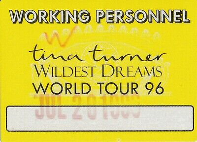 CONCERT TICKET - Tina Turner @ Wembley Stadium 1996 Staff - Yellow • 4.99£