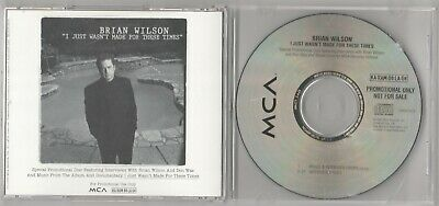 I Just Wasn't Made For These Times: Brian Wilson Rare MCA Promotional CD Don Was • 31.49£