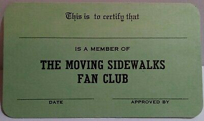 The Moving Sidewalks Rare Fan Club Membership Card Unused ZZ Top Billy Gibbons • 29.99£