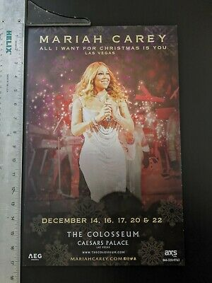 Mariah Carey All I Want For Christmas Is You.The Colosseum Promo 17 X 11 Poster • 12.01£