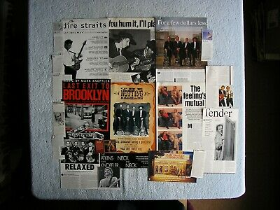 Dire Straits - Mark Knopfler - Magazine Cuttings Collection - Clippings X20. • 2.94£