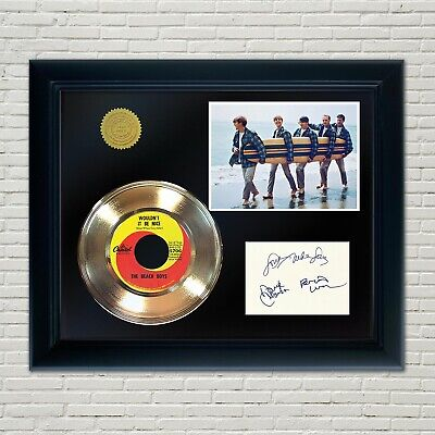 Beach Boys Framed 45 Gold Record Reproduction Signature Display 2 • 70.90£