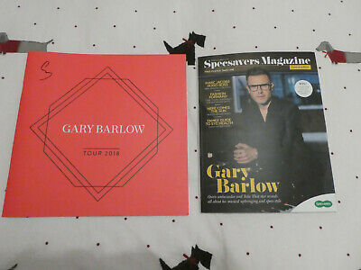 ⫩ Gary Barlow Solo Tour 2018 Signed Programme & Specsavers Magazine⫩  • 10£