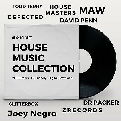 House Music Collection - Digital - DJ Friendly - 2750 Tracks - Quick Delivery • 15£