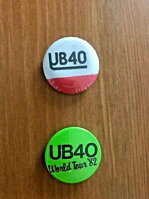 2 Collectable Vintage UB40 Button Badges From The 1980's, Good Condition. • 3.99£