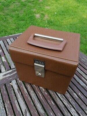 Record Box For 7  Singles / E.p's Vinyl Storage Carry Case Vintage Brown • 25£