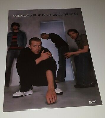 Coldplay  A Rush Of Blood To The Head  Promotional Only Double Sided  Poster   • 11.81£