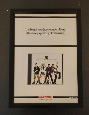 Brand New Heavies Brother Sister Album CD Original Framed Music Advert - Poster  • 10£