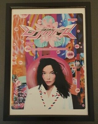 Bjork Post Album 1995 Cd Framed Music Advert - Poster  • 10£
