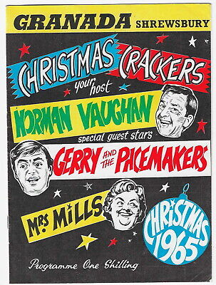 1965 Gerry And The Pacemakers Mrs Mills Shrewsbury Variety Show Programme • 9.99£