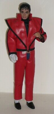 Michael Jackson Doll 1984 Figure Dressed In Original Red Thriller Outfit • 45£