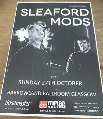 Sleaford Mods - Live Music Show Promotional Tour Concert Gig Poster • 4.99£