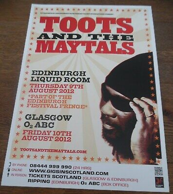Toots And The Maytals - Live Music Show Promotional Tour Concert Gig Poster • 4.99£