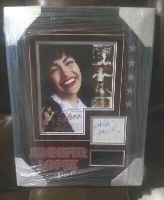 Jennifer Lopez Signed & Framed Index Card With Incredible Selena Display 16x20 • 312.41£