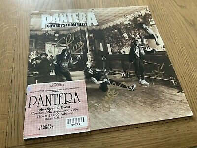 Pantera Cowboys From Hell Fully Autographed Album Cover Dime Vinny P Rex Phil! • 475£