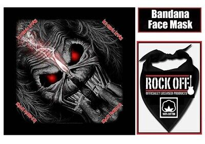 OFFICIAL Iron Maiden EDDIE CANDLE FINGER Bandana Face Mask 100% Cotton NEW  • 9.99£