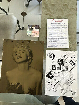 MADONNA Who's That Girl 1987 Wembley Ticket And Program • 15£