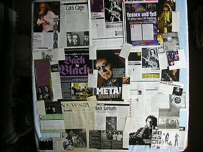 Black Sabbath - Magazine Cuttings Collection - Articles, Photos, Clippings X36. • 2.94£