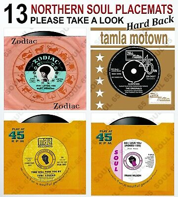 Northern Soul Placemat, Vinyl Record Placemat, Motown Placemat, Wigan Casino KTF • 8.25£