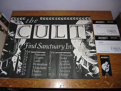 The Cult - She Sells Sanctuary Summer Tour Promo Poster - Owned By Billy Duffy • 300£