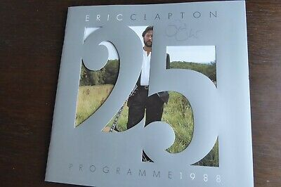 Eric Clapton Signed Autograph 1988 UK Tour Programme Cream Mark Knopfler MINT • 250£