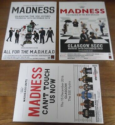 Madness - Posters Job Lot Collection 3 X Promotional Tour Concert Gig Poster • 10.99£