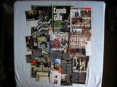 Lamb Of God - Magazine Cuttings Collection - Clippings, Articles, Photos X16. • 2.54£