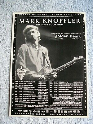 MARK KNOPFLER - FIRST SOLO TOUR 1996 - ADVERT - 19.5 X 27.5cm. DIRE STRAITS. • 2.54£