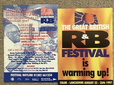 2 Flyers For 1997 Colne Blues Festival • 0.99£