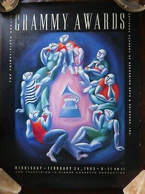 35th Annual GRAMMY AWARDS Original Poster 1993 ERIC CLAPTON MICHAEL JACKSON • 120£