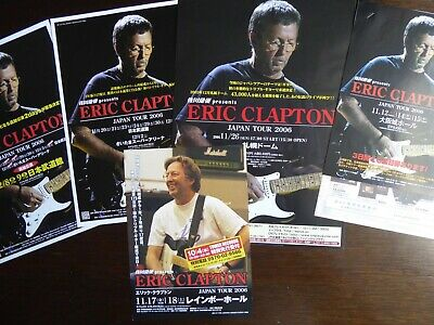 ERIC CLAPTON  Full Set Of 5 Original 2006 Japan Tour Flyers Various Cities. MINT • 35£