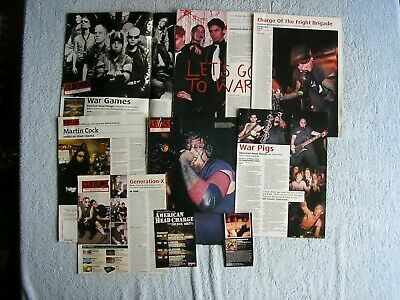 American Head Charge - Magazine Cuttings Collection - Clippings, Articles X9. • 2.24£