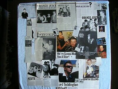 Edwyn Collins - Orange Juice - Magazine Cuttings Collection - Clippings X28. • 2.94£