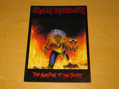 Iron Maiden - The Number Of The Beast - Vintage Postcard                 (promo) • 4.99£