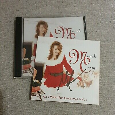 Mariah Carey, All I Want For Christmas CD Single, Signed Inlay CD New & Sealed.  • 20£
