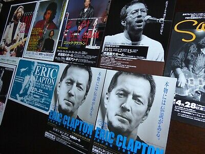 ERIC CLAPTON  A Collection Of 9 JAPAN Tour Flyers 1990 To 2000 RARE & MINT • 75£
