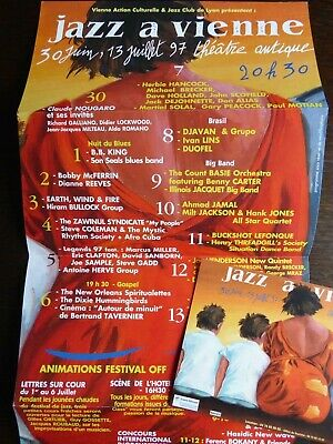 ERIC CLAPTON  Legends97 Jazz A Vienne Festival Folded Flyer & PostCard 1997 Mint • 30£